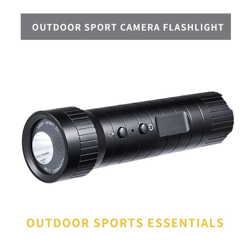 China wholesale Hd 720p Action Camera - New 1080P mini sport camera helmet Hd 120 wide Angle waterproof flashlight loop recording sport camera  – Yikoo Featured Image