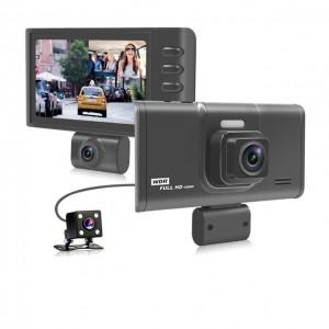 Car DVR 4.0 inch Dual Lens Dash Camera 1080P Full HD G-Sensor Car Rear Camera Recorder Registrator DVR Dash Cam