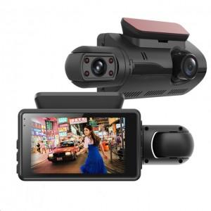 HD Night Car Dvr Dash Cam 3.0 Inch Video Recorder Auto Camera 2 Camera Lens With Rear View Camera Registrator Dashcam DVRs