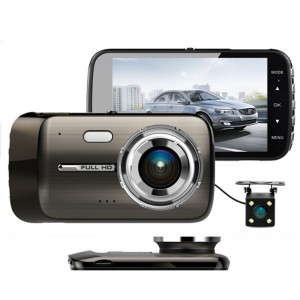 4.0 IPS screen car blackbox dvr dash camera hd 1080p reversing video camera dual lens dvr