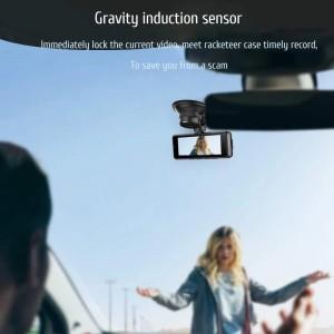 HD 3.16 Inch Dual Lens Image 1080P Hidden Wide Angle Driving Recorder Dash Cam Dual Lens Car DVR Camera Support Reversing