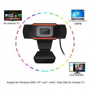 HD Webcam Digital Video Webcamera Built In Sound Absorption Microphone For Laptop Desktop Computer