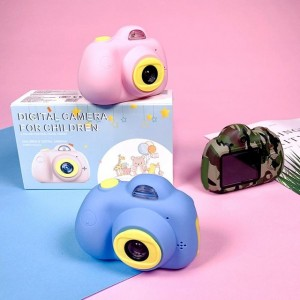 Children front and back dual-lens video camera children 1080P HD mini camara for kids gift