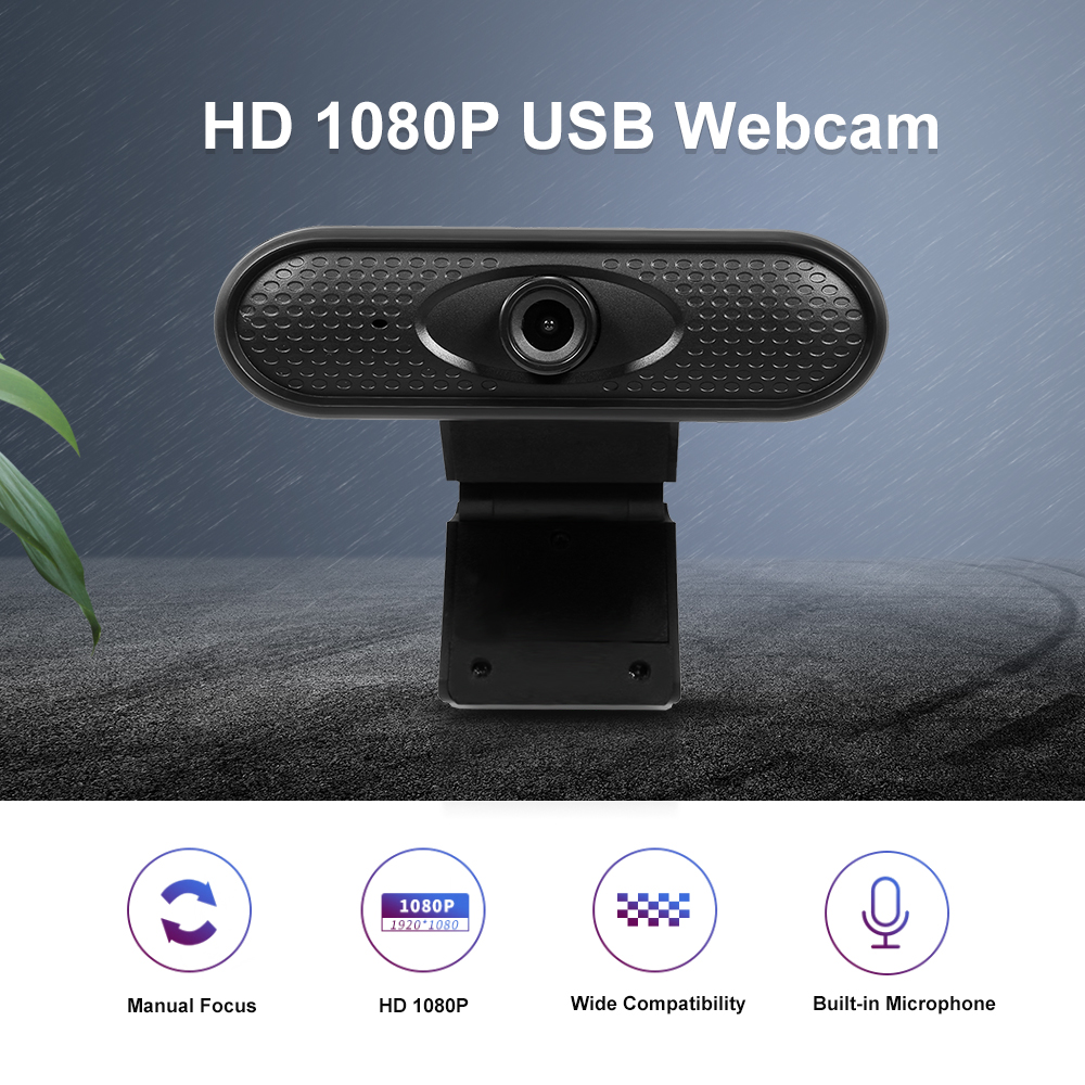 USB Webcam HD 1080P Web Camera High Definition Video Chat Recording Built-in Microphone USB Web Cam for home pc Laptop Featured Image