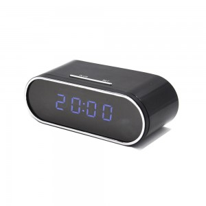 Wireless table clock IR Night Vision mini dvr camcorder app remote 1080P wifi Camera alarm clock