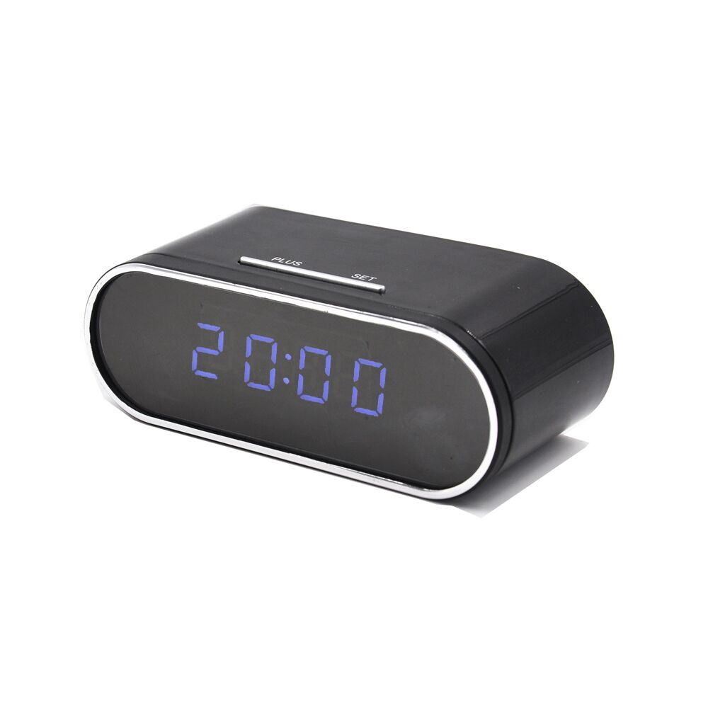 Wireless table clock IR Night Vision mini dvr camcorder app remote 1080P wifi Camera alarm clock Featured Image