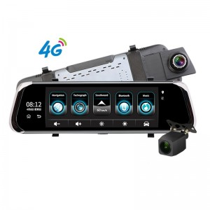 10 inch 4g Android Wifi Gps 1080p Video Recorder Dual Lens Dash Cam Bluetooth Adas Car Dvr Camera
