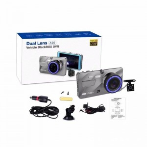 HD 4.0 inch IPS screen 1080P driver dual lens motion detection dash cam
