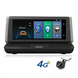 4G 8 inch touch screen car GPS navigation android 5.1 ADAS rearview car camera