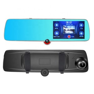 Full hd 1080P dual lens 170 degree 5.0 inch ips touch screen car camera with night vision