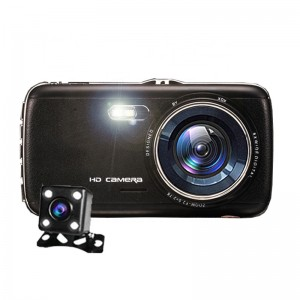 Adas ilə 4.0 inch ikili lens dash cam user manual FHD 1080p avtomobil kamera dvr video recorder