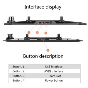 7 इंच टच स्क्रीन दोहरी लेंस कैमरा नाइट विजन रियरव्यू मिरर पानी का छींटा कैम
