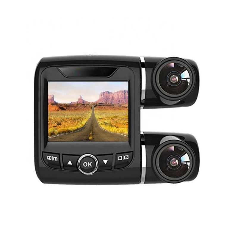 360 kraadi panoraam videokaamera salvestaja Novateki 96655 kaks kaamerat auto DVR