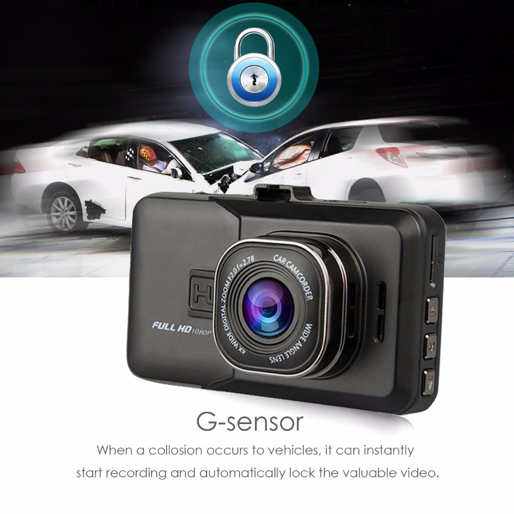 Full HD 1080P wdr parking monitor g-sensor car camera dvr video recorder vehicle blackbox dvr user manual
