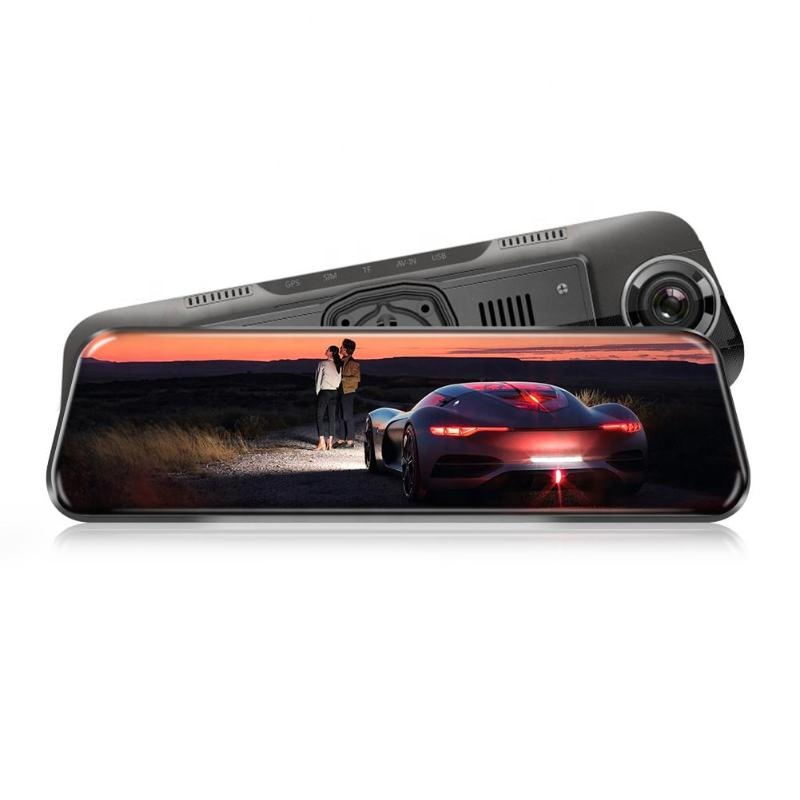 10 Inch Touch Screen Car Rearview Mirror DVR Camera Dual Lens Dash Cam Video Recorder with ADAS