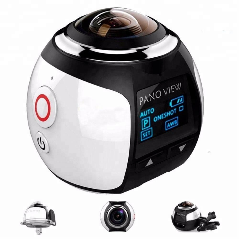 4K 2.0 inch wifi 30M underwater 360 degree sports action camera with remote control