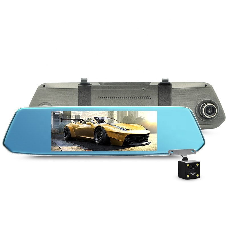 7.0 inch touch screen full hd 1080P rear view night vision dual car dash cam