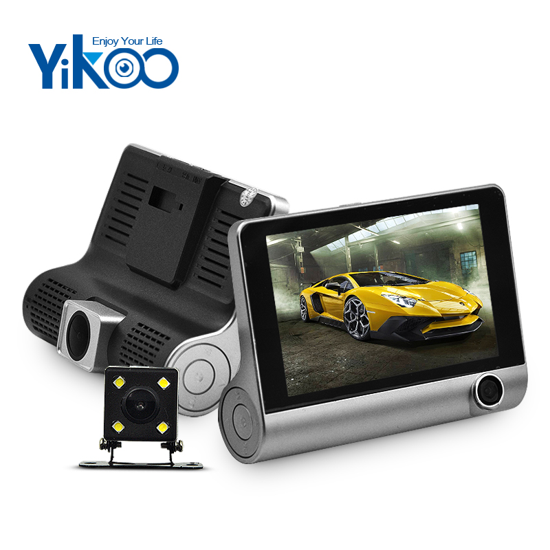 4 inch full hd 1080P 3 lens 170 degree car rear view camera with night vision