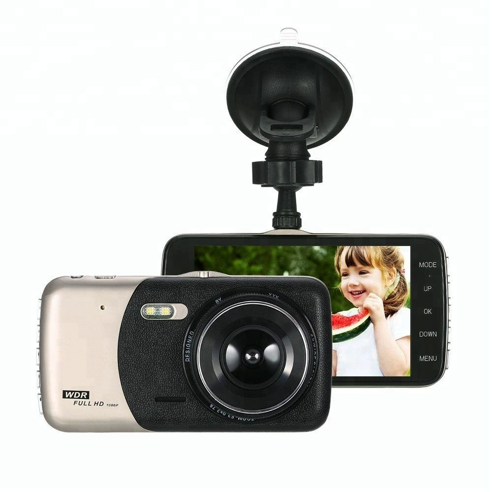 4.0 inch full 1080p G-sensor motion detection rear view dual camera car camcorder
