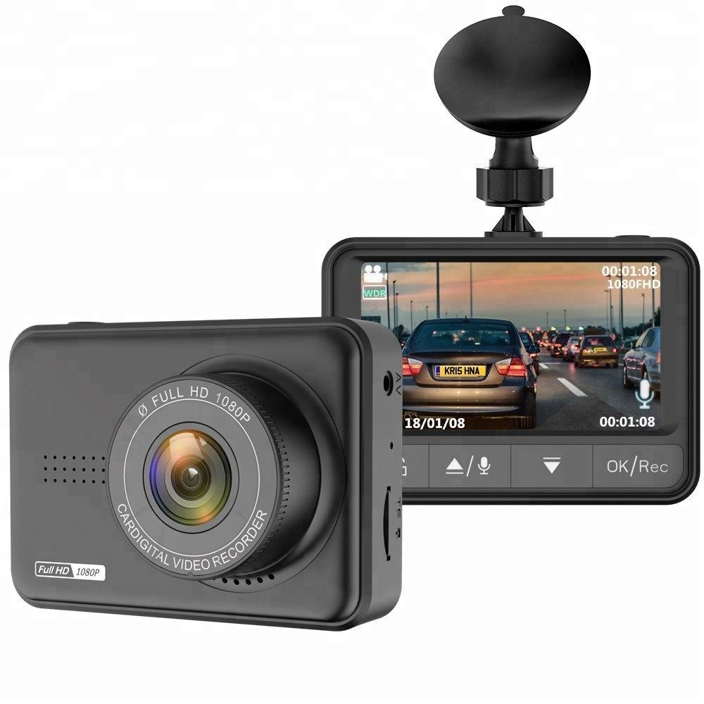 Mini 2.45 inch full hd 1080p 170 degree dual lens car dvr camera with night vision