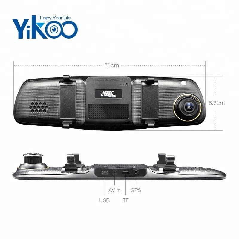 5,0 tolline auto DVR dual tagumine kaamera objektiivi Full HD Silmuspõletamise salvestaja kriips cam