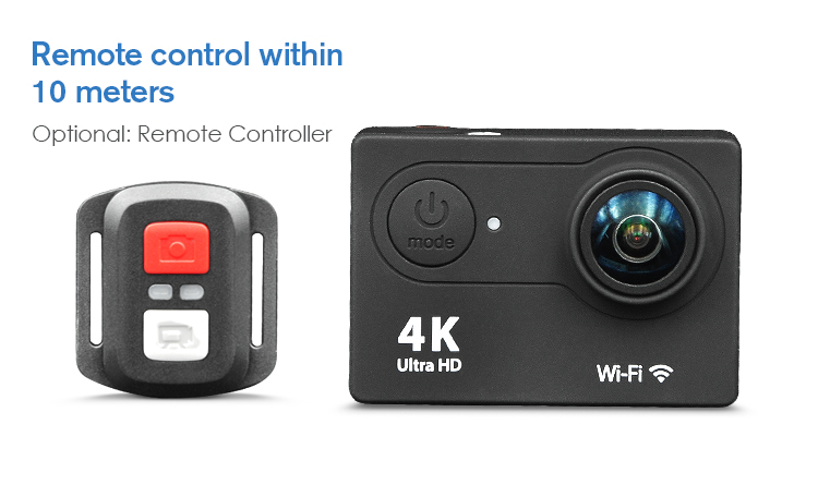 Waterproof 170 degree full hd 1080p wifi sport action driving video camera