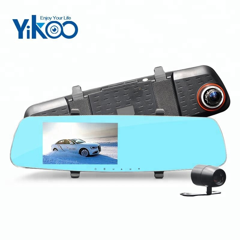 5 inch car recorder rearview mirror car black box camera with night vision