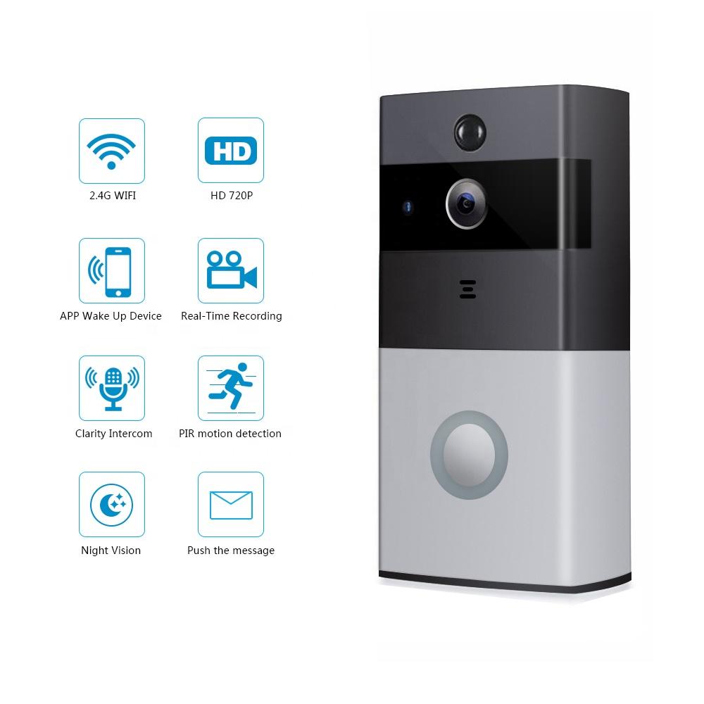 HD 720P veekindel PIR liikumisandur 2.4G wifi ring video uksekell öise nägemise