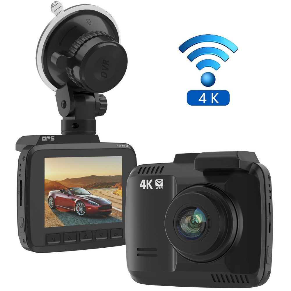 2.4 inch 4K wifi Novatek 96660 car mirror gps camera with Motion Detection
