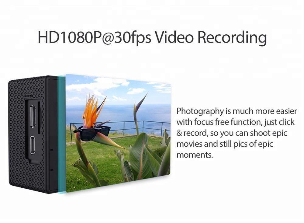 Factory Free sample Sport Dv Camera Firmware - 30M underwater sports action camera 4k 30pfs wifi remote control sj7000 – Yikoo