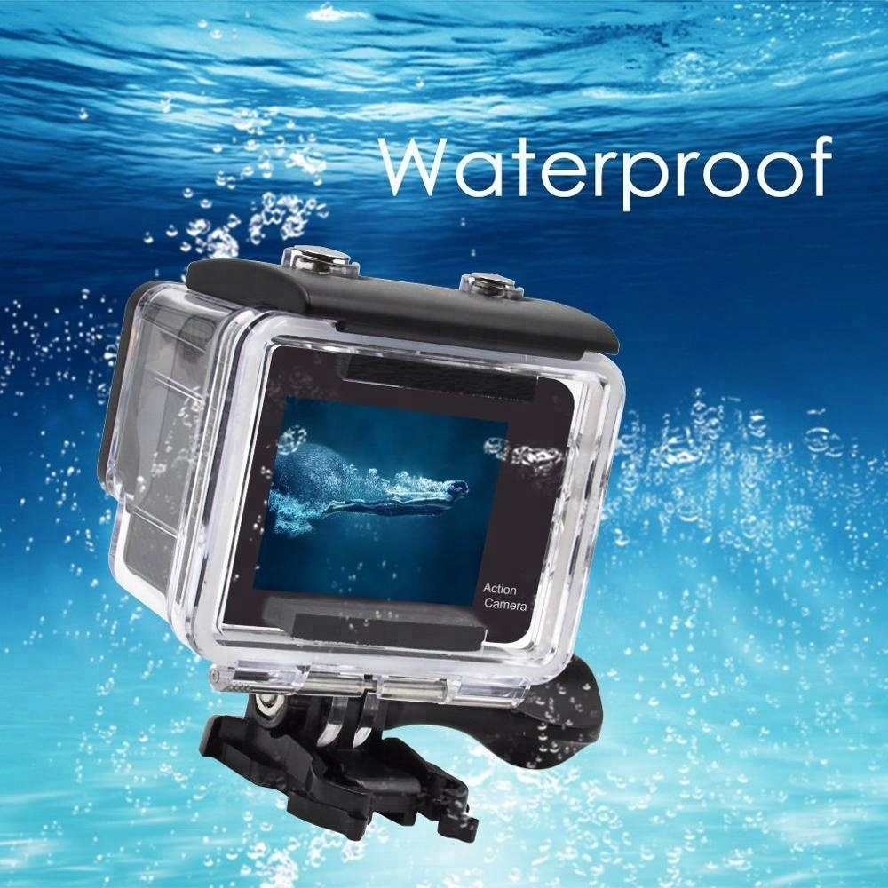 """New Arrival China Sport Camera Sj4000 - 2.0"""" wifi 30M waterproof 4k dual screen ultra hd action camera with remote control – Yikoo"""