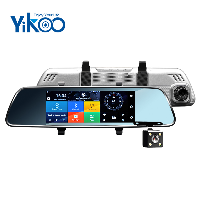 7 inch IPS wifi 3g rearview mirror gps android 5.0 blue tooth car camera
