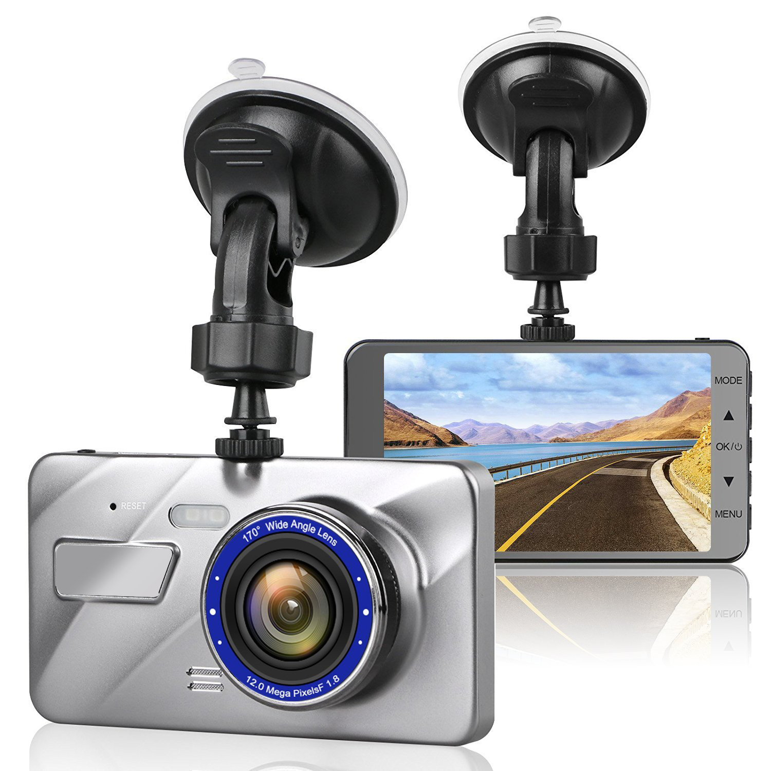 HD 4.0 inch IPS screen 1080P driver dual lens motion detection dash cam Featured Image