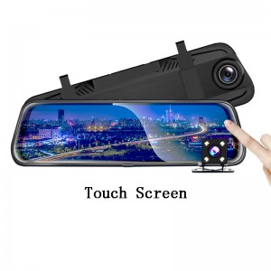 10 inch IPS touch screen full 1080P dual lens  mirror rearview car camera